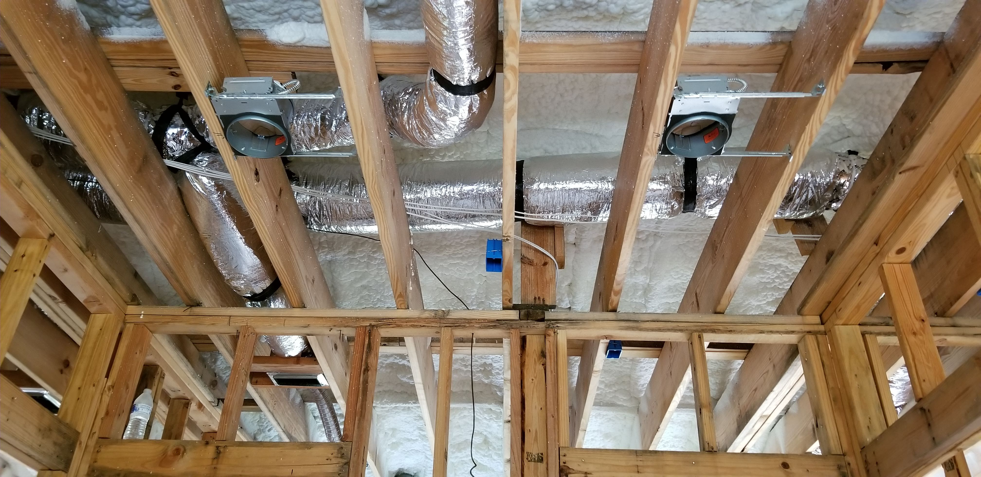 New Home Construction HVAC, insulation, and lighting
