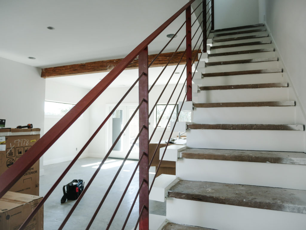 Modern home stairs. Affordable home for sale