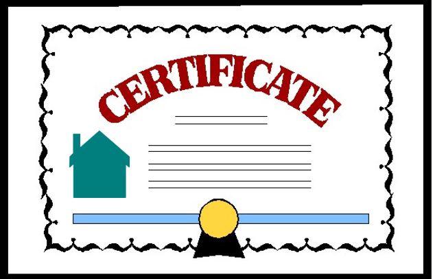 certificate homebuyers